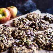 Harvest Oatmeal Chocolate Chunk Cookies with Salted Toasted Pepitas + Video
