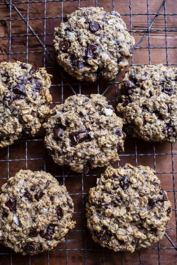 Harvest Oatmeal Chocolate Chunk Cookies with Salted Toasted Pepitas | halfbakedharvest.com @hbharvest