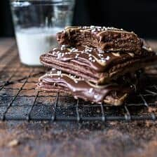 Homemade Chocolate Peanut Butter Fudge Pop-Tarts.