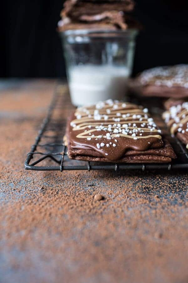 Homemade Chocolate Peanut Butter Fudge Pop-Tarts | halfbakedharvest.com @hbharvest