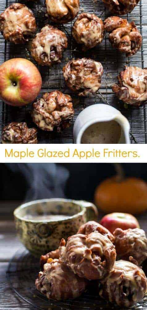 Maple Glazed Apple Fritters | halfbakedharvest.com @hbharvest
