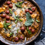 One-Pan Spinach and Cheese Gnocchi with Roasted Garlic Tomato Cream Sauce | halfbakedharvest.com @hbharvest