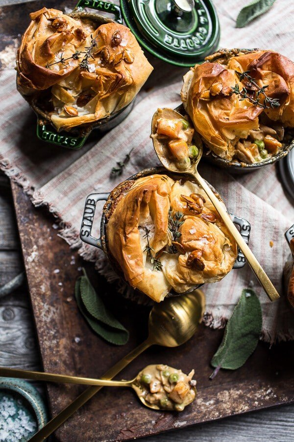 Autumn Chicken And Phyllo Dough Pot Pies Hbh