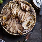 Caramelized Pear and Hazelnut Crumble Tart.