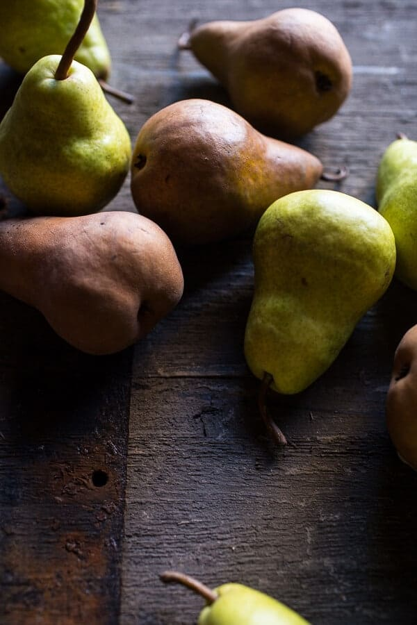 Caramelized Pear and Hazelnut Crumble Tart | halfbakedharvest.com @hbharvest