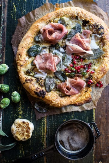 Charred Brussels Sprout Pizza with Browned Sage Butter + Video