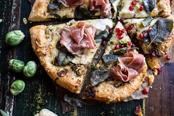 Charred Brussels Sprout Pizza with Browned Sage Butter (VIDEO) | halfbakedharvest.com @hbharvest