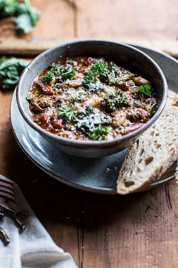Crockpot Italian Chicken and Broccoli Rabe Chili-1