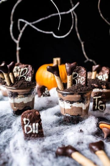 Deathly Chocolate Graveyard Cakes…Witches Beware.