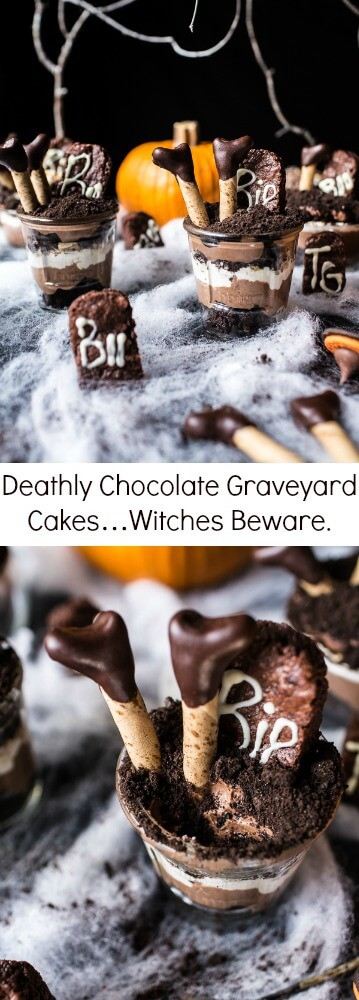 Deathly Chocolate Graveyard Cakes…Witches Beware | halfbakedharvest.com @hbharvest