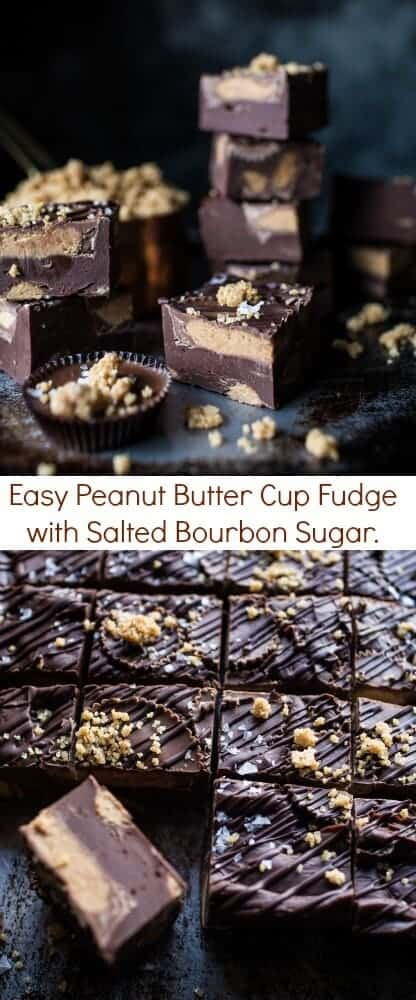 Easy Peanut Butter Cup Fudge with Salted Bourbon Sugar | halfbakedharvest.com @hbharvest