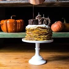 Pumpkin Nutella Crepe Cake...the 100th Year Celebration Cake!!