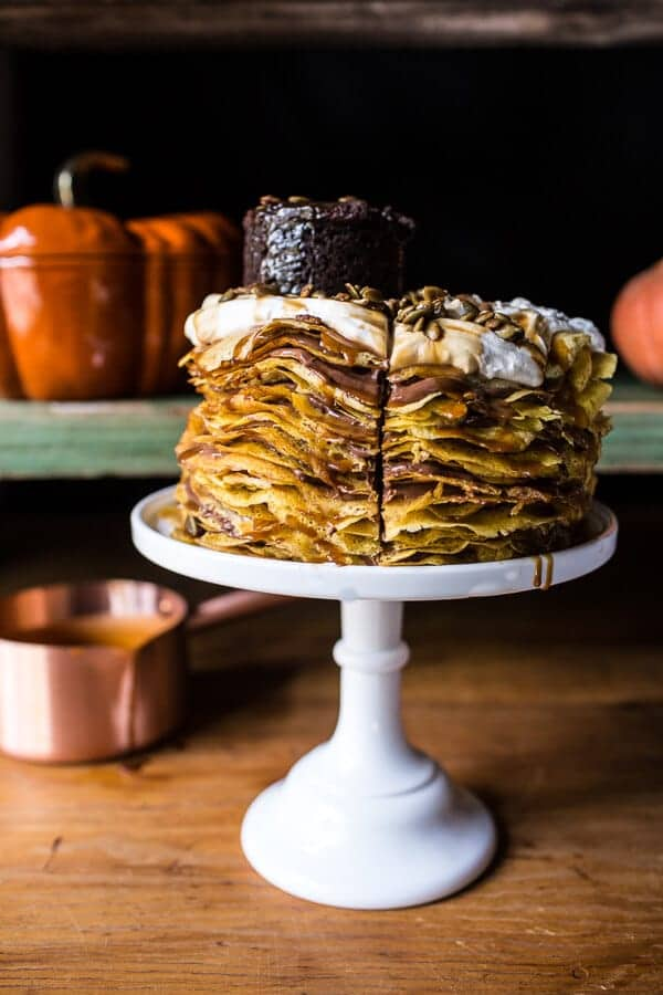 Pumpkin Nutella Crepe Cake…the 100th Year Celebration Cake!!