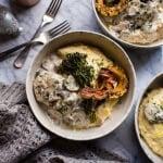 45-Minute Truffled Mushroom Chicken with Polenta + Roasted Broccolini | halfbakedharvest.com @hbharvest