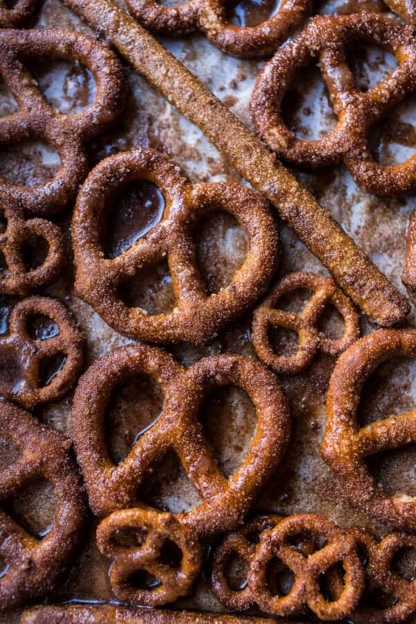 Chocolate Covered Cinnamon Sugar Pretzels | halfbakedharvest.com @hbharvest