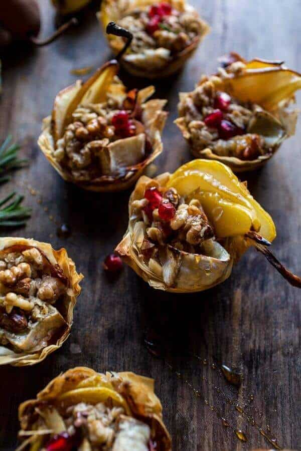 Crispy Prosciutto Baked Brie Bites with Honey Pears + Walnuts | halfbakedharvest.com @hbharvest