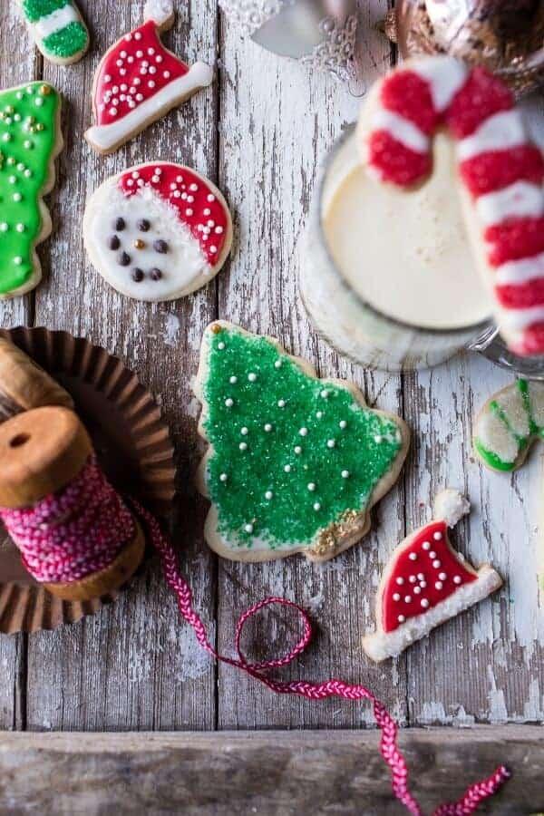 Eggnog Scented Sugar Cookies with Easy Vanilla Icing | halfbakedharvest.com @hbharvest