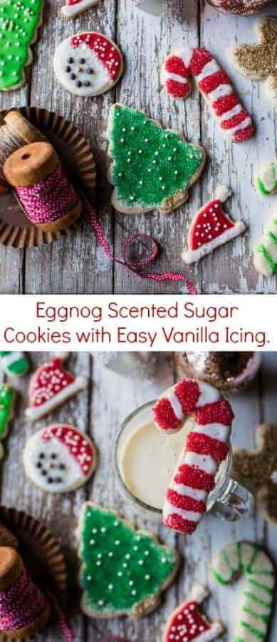 Eggnog Scented Sugar Cookies with Easy Vanilla Icing | halfbakedharvest.com @hbharvest
