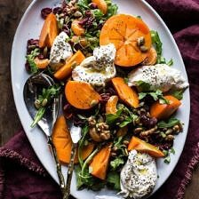 Harvest Cranberry, Persimmon and Burrata Salad.