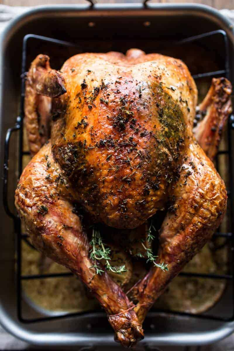 , Herb and Butter Roasted Turkey with White Wine Pan Gravy, my turkey ...