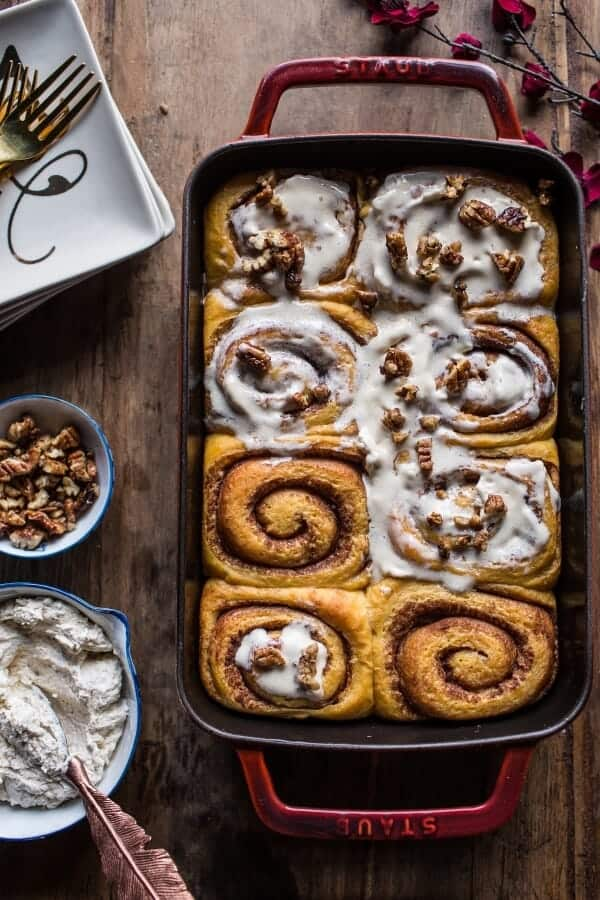 Sweet Potato Pie Cinnamon Rolls with Butter Whipped Meringue Frosting ...