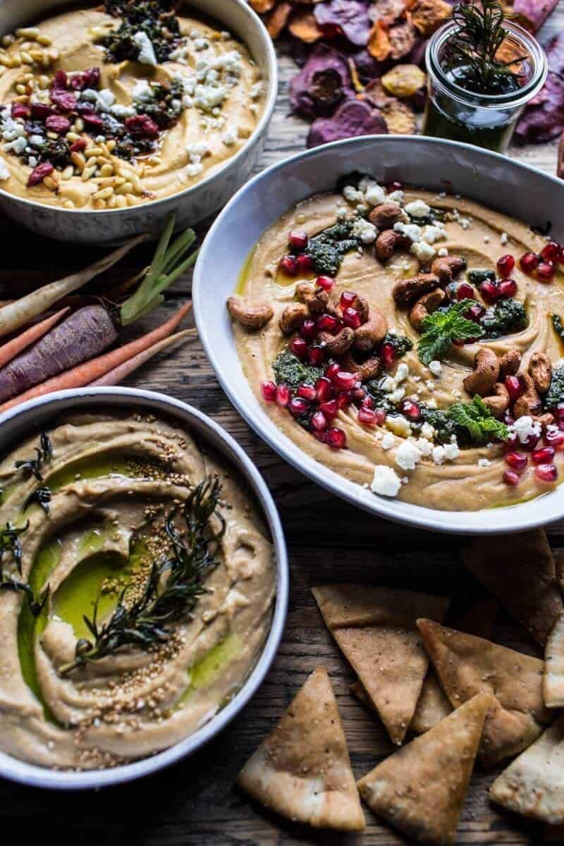 The Big Holiday Hummus Board with Roasted Root Veggie Chips | halfbakedharvest.com @hbharvest