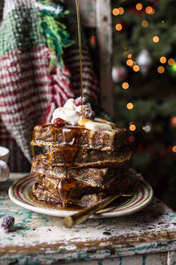 Baked Gingerbread Custard Waffle French Toast (VIDEO).