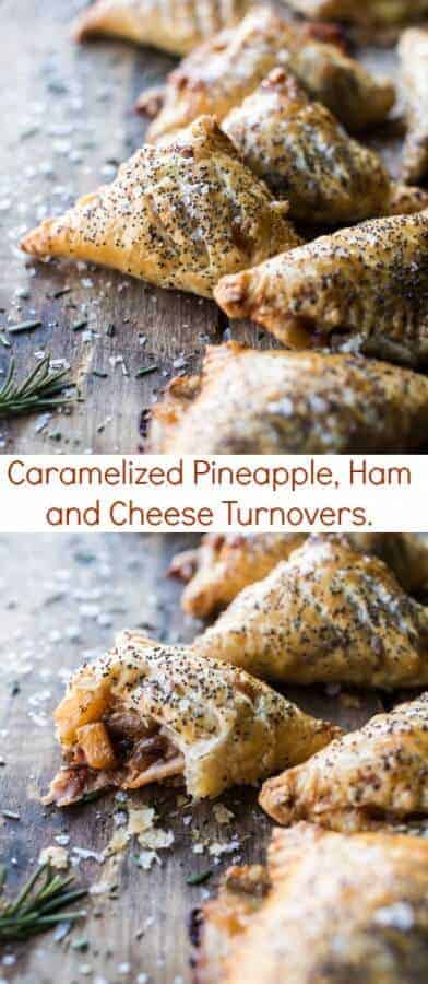 Caramelized Pineapple, Ham and Cheese Turnovers | halfbakedharvest.com @hbharvest