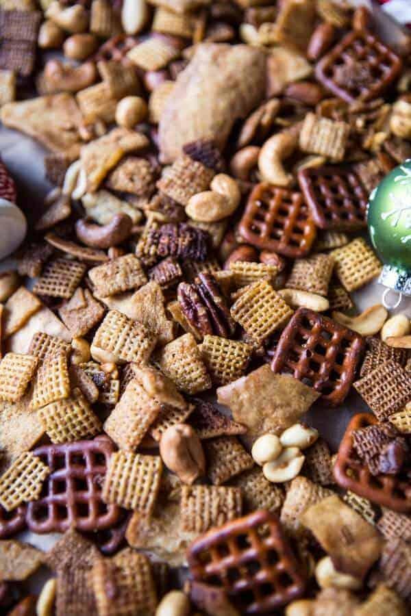 Easy Crockpot (Christmas Eve) Chex Mix | halfbakedharvest.com @hbharvest