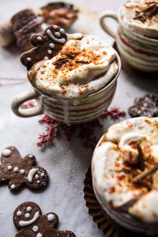 Gingerbread Latte with Salted Caramel Sugar (VIDEO) | halfbakedharvest.com @hbharvest