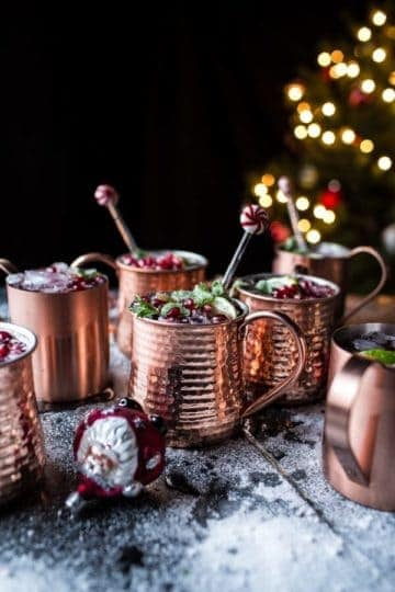 Pomegranate and Peppermint Moscow Mules (VIDEO).