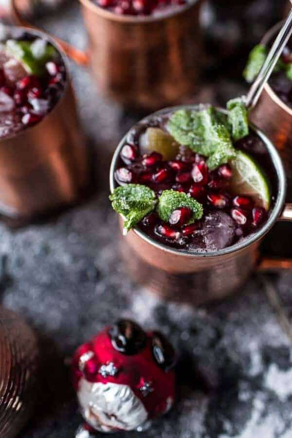 Pomegranate and Peppermint Moscow Mules (VIDEO) | halfbakedharvest.com @hbharvest
