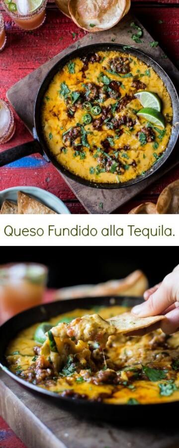 Queso Fundido alla Tequila | halfbakedharvest.com @hbharvest