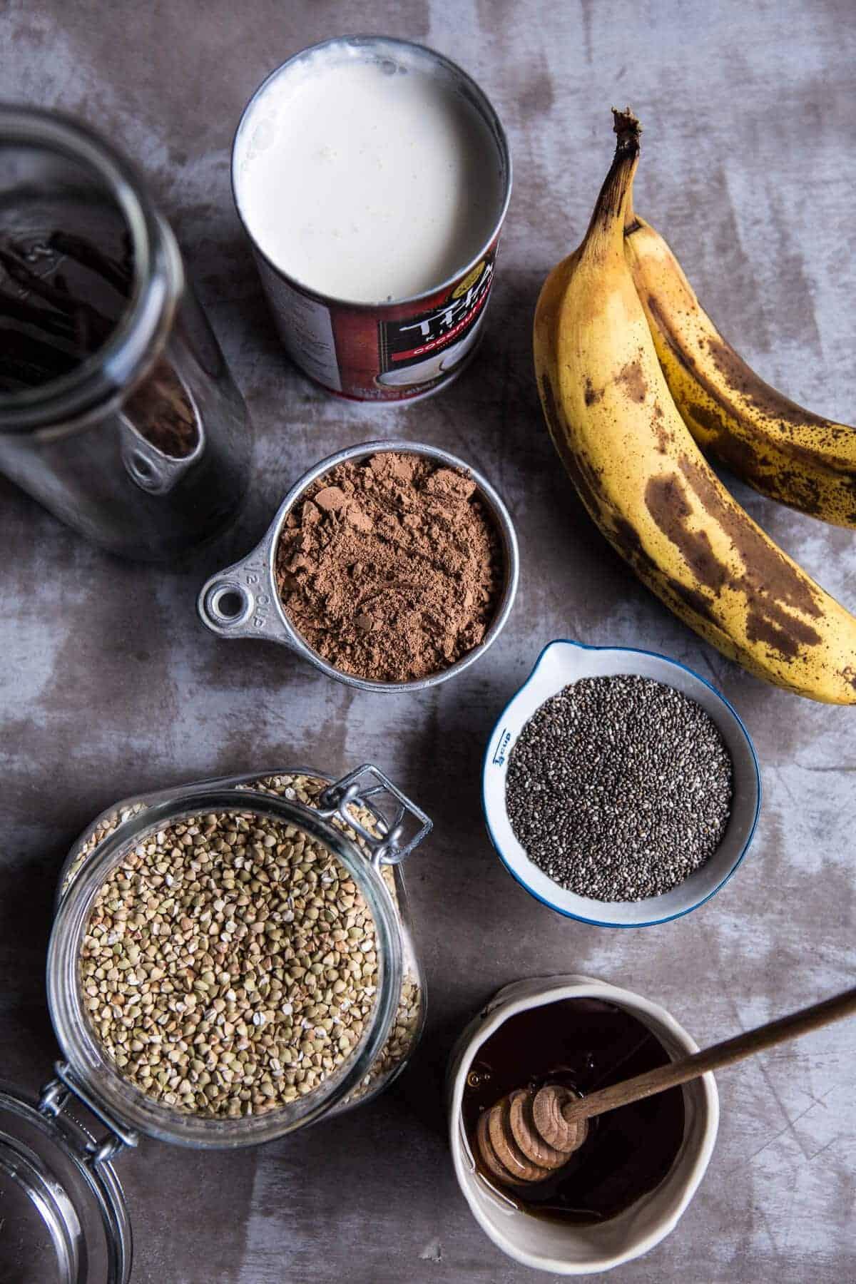 Banana and Chocolate Chia Cream Pie Parfaits | halfbakedharvest.com @hbharvest