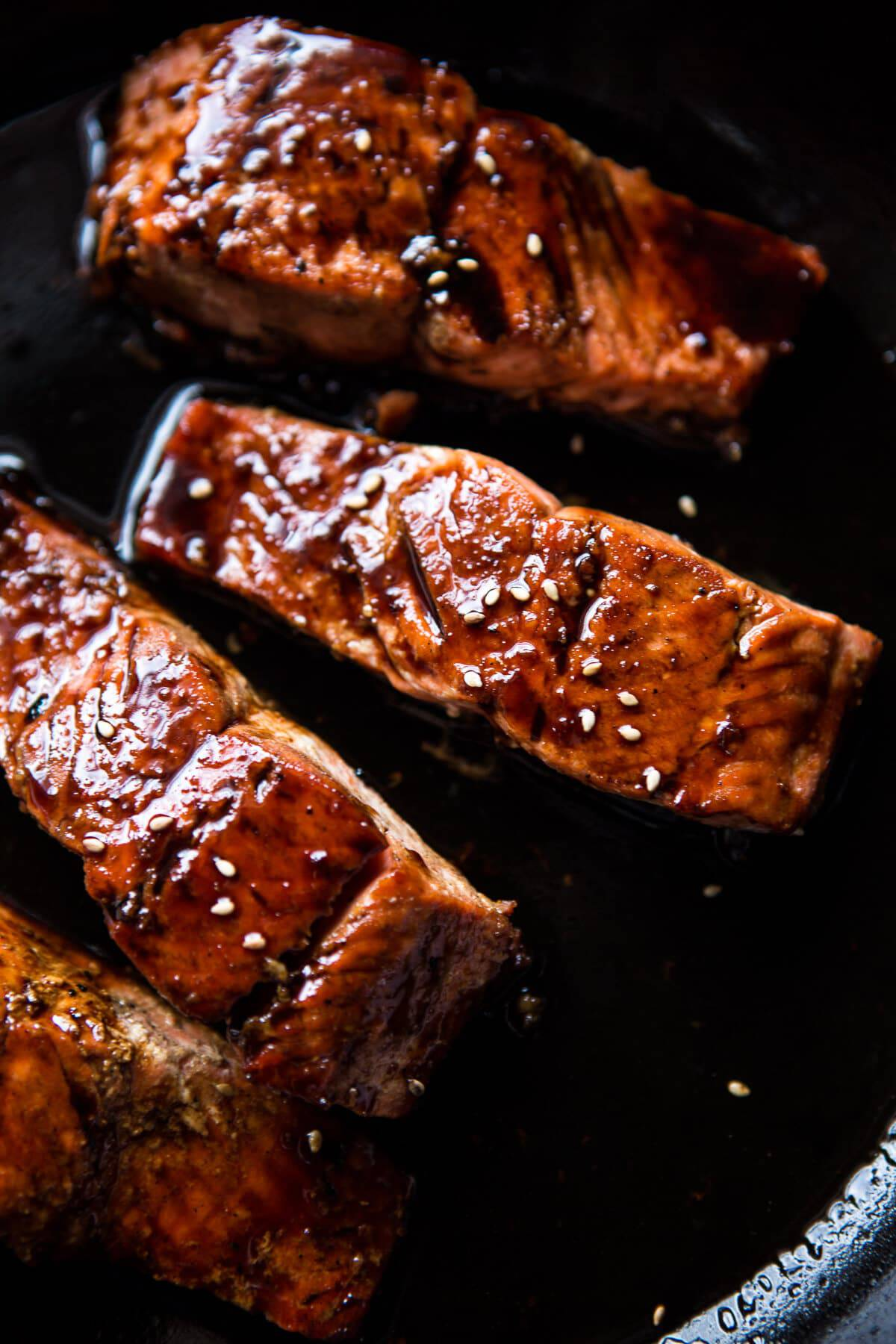 Caramelized Teriyaki Salmon with Sesame Toasted Buckwheat-2