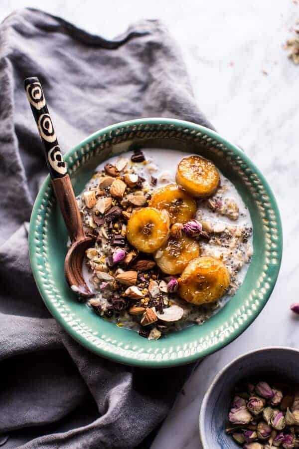 Coconut Chia Oats with Caramelized Bananas | halfbakedharvest.com @hbharvest