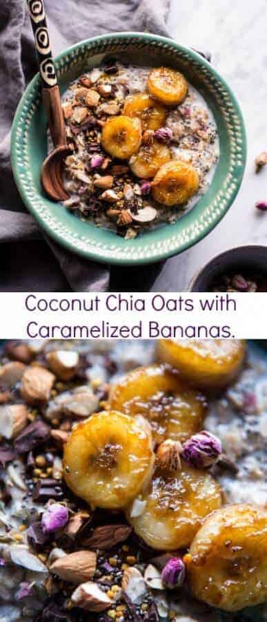 Coconut Chia Oats with Caramelized Bananas | halfbakedharvest.com @hbharvest