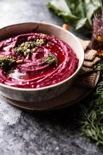 Roasted Beet Hummus + Video