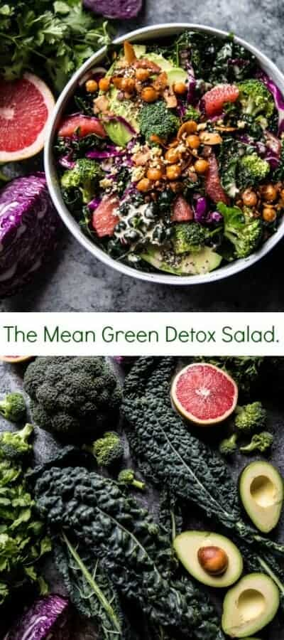 The Mean Green Detox Salad | halfbakedharvest.com @hbharvest