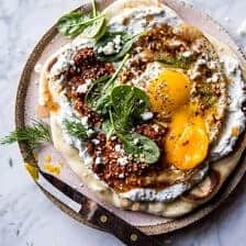Turkish Fried Eggs in Herbed Yogurt.