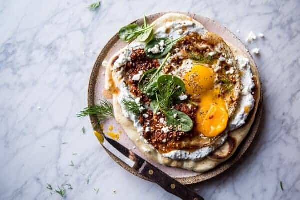 Turkish Fried Eggs in Herbed Yogurt | halfbakedharvest.com @hbharvest