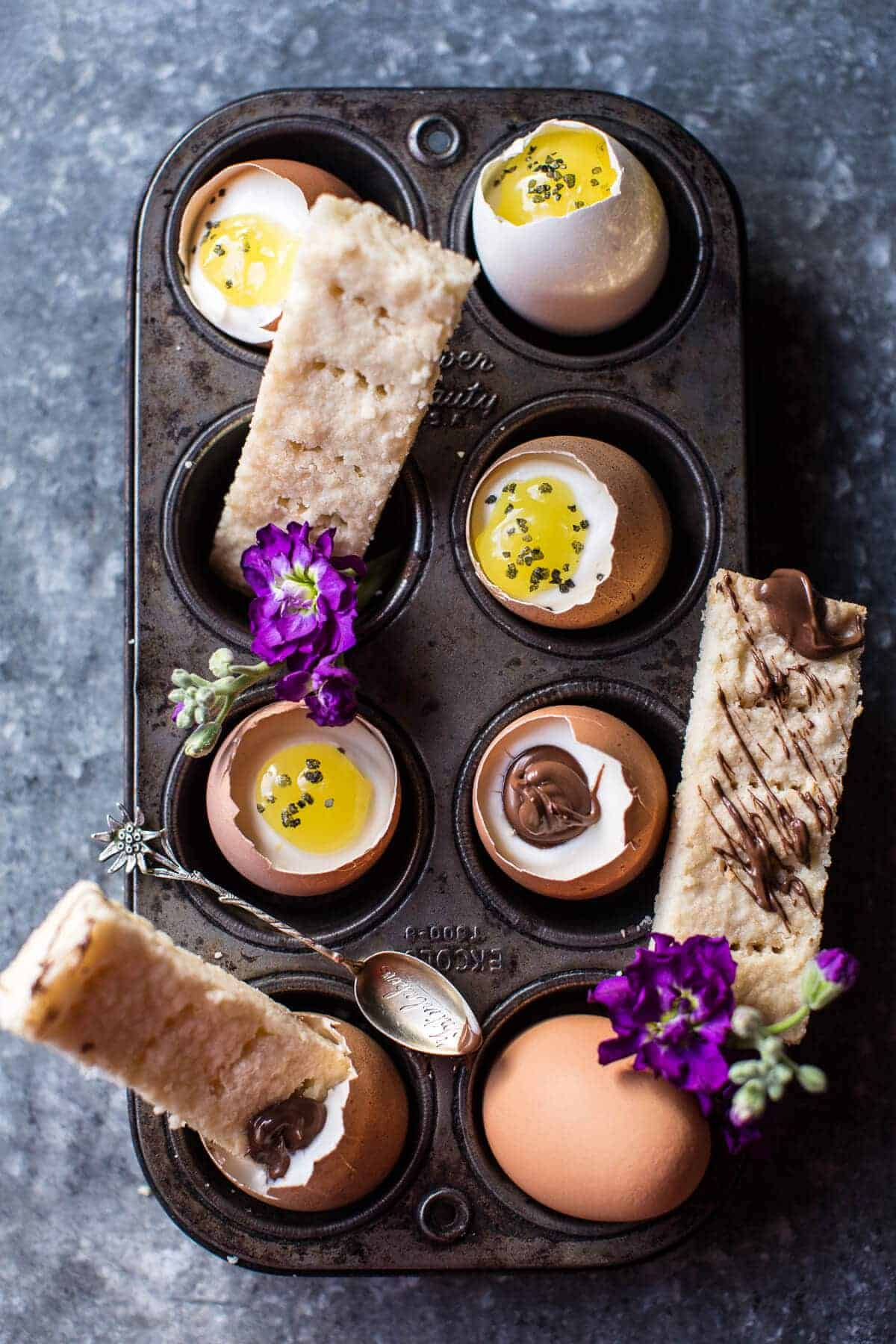 Cheesecake Eggs with Shortbread Soldiers | halfbakedharvest.com @hbharvest