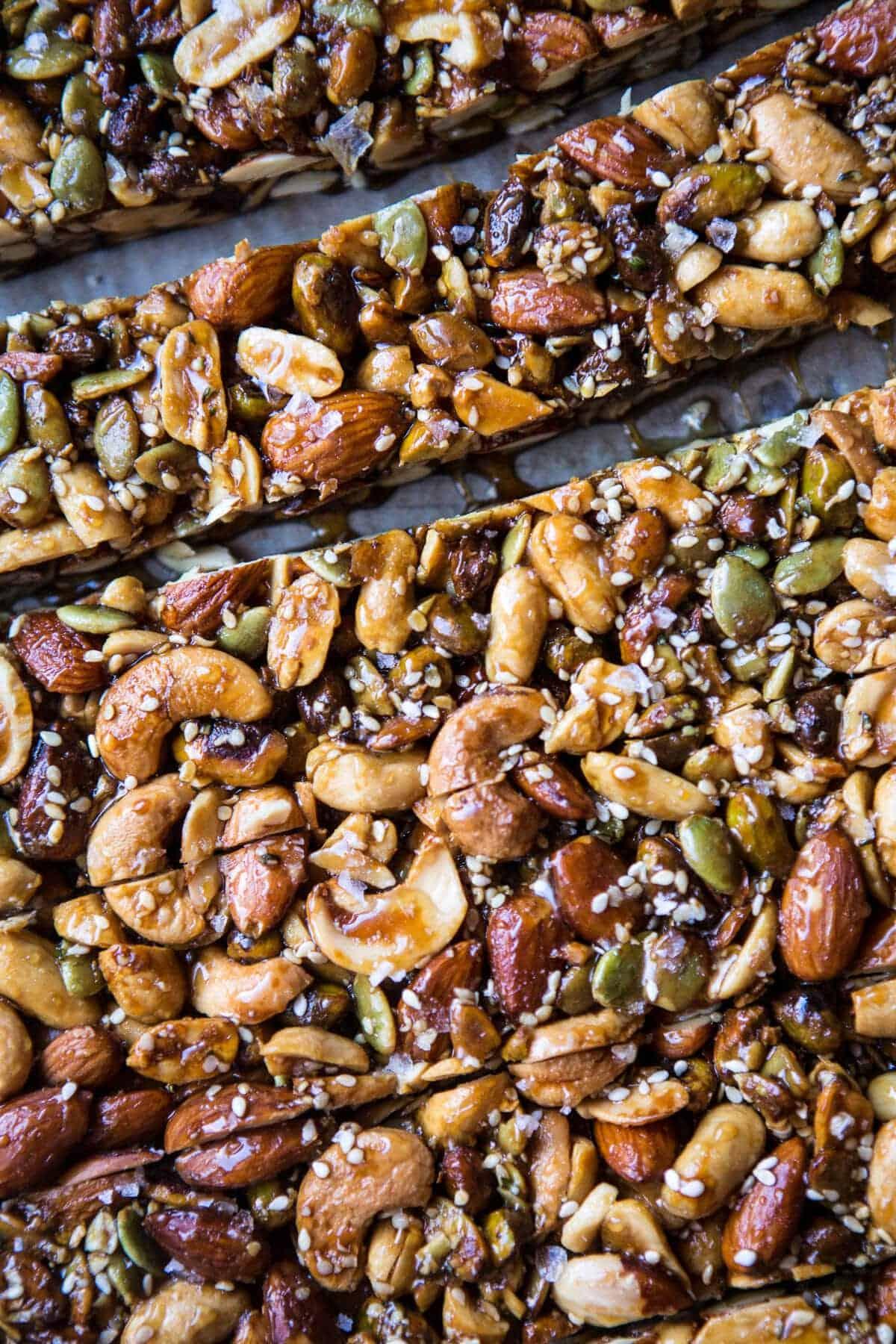 Chocolate Dunked Salted Honey Nut Bars | halfbakedharvest.com @ ...