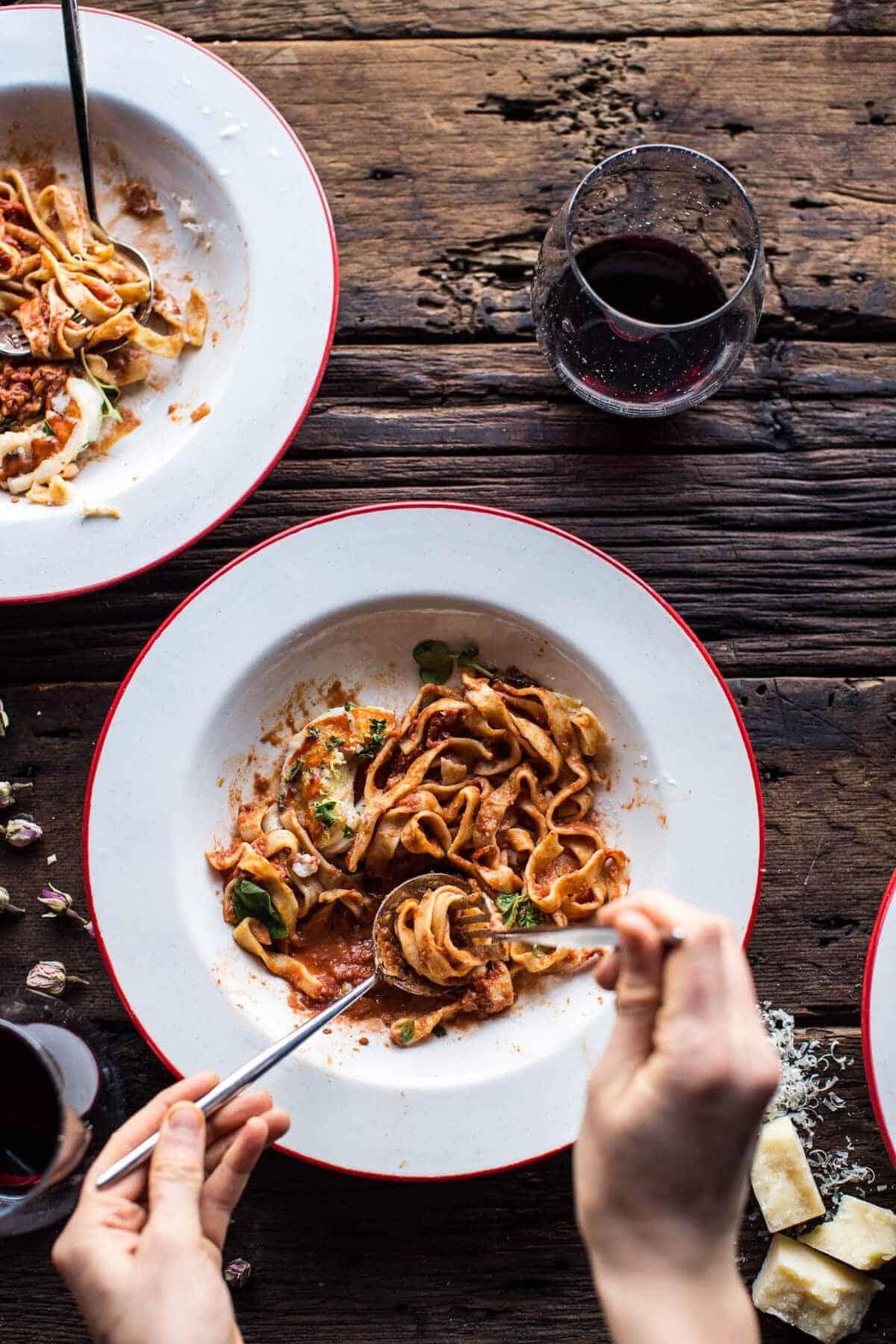 Creamy Tomato, Lobster and Shrimp Fettuccine | halfbakedharvest.com @hbharvest