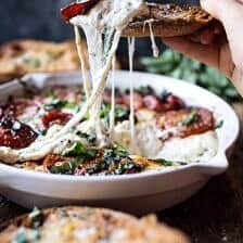 Margherita Pizza Dip (with Burrata).