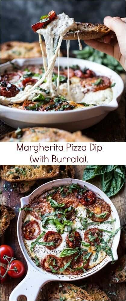 Margherita Pizza Dip (with Burrata) | halfbakedharvest.com @hbharvest