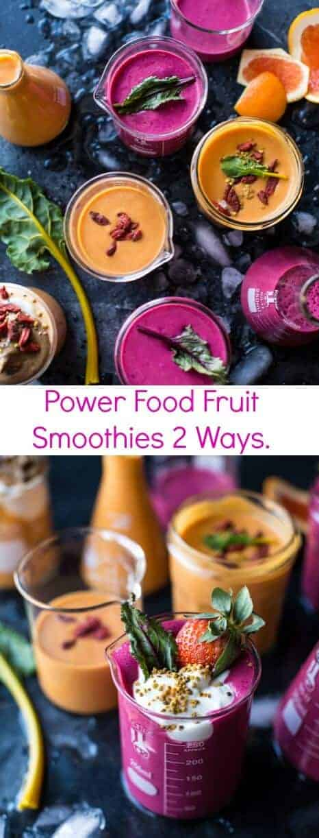 Power Food Fruit Smoothies 2 Ways | halfbakedharvest.com @hbharvest