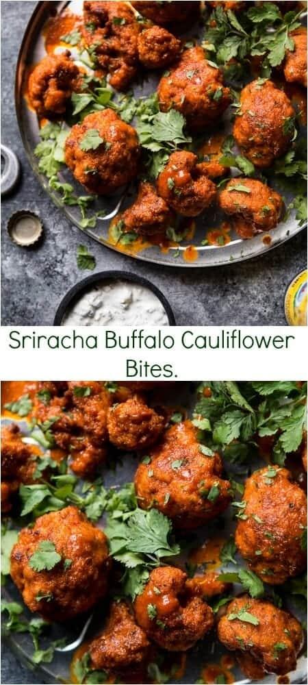 Sriracha Buffalo Cauliflower Bites | halfbakedharvest.com @hbharvest