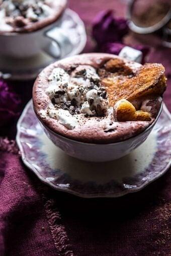Superfood Hot Chocolate with Honey Caramelized Brioche | halfbakedharvest.com @hbharvest
