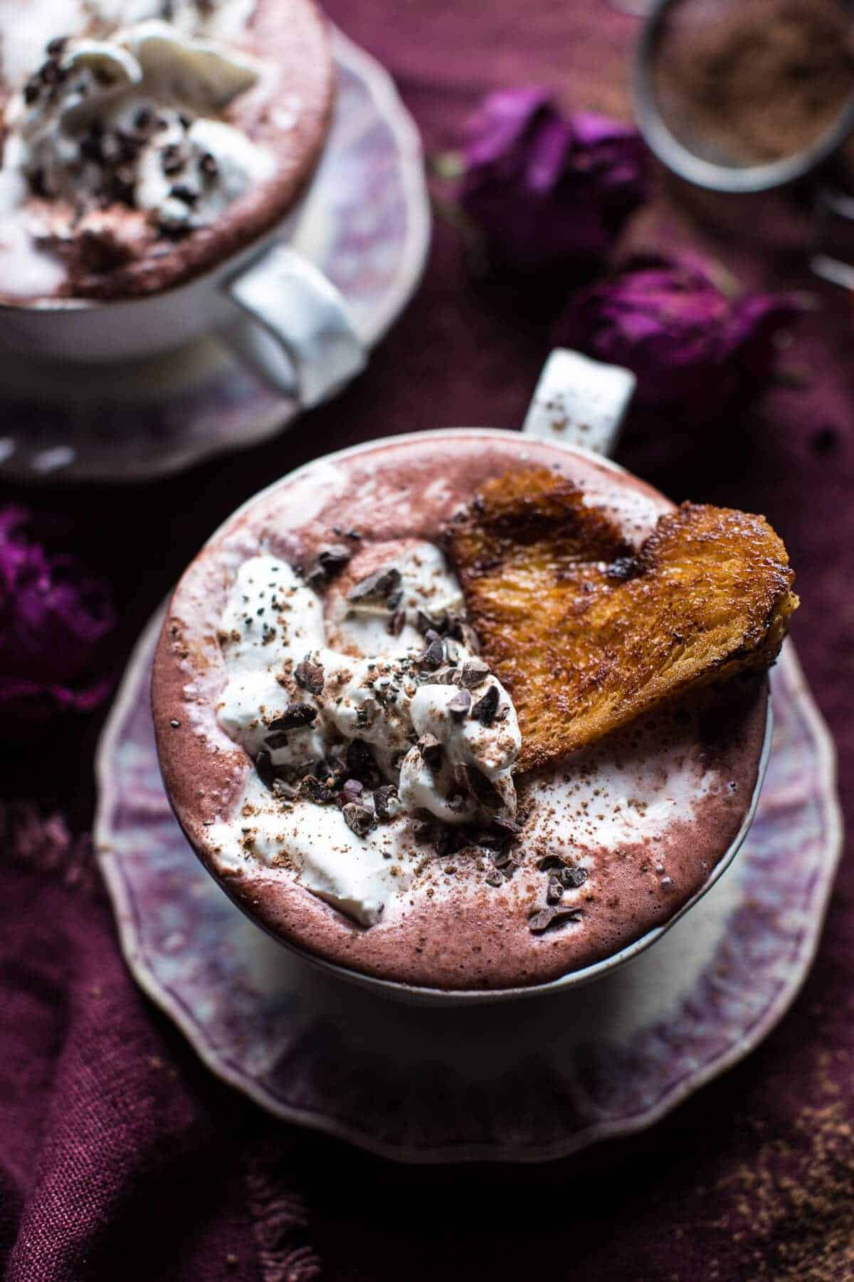 Superfood Hot Chocolate with Honey Caramelized Brioche | halfbakedharvest.com @hbharvest